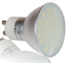 LEDHive 27SMD GU10 240V 6W Frosted 480LM