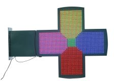 New P10 3D Pharmacy LED Cross - Full Colour