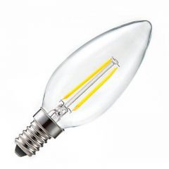 LEDHive E14 LED 2W Candle 210 Lumen Filament Bulb - Warm White