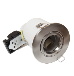 LEDHive Large Adjustable Premium GU10 Downlight -  Fire Rated - Brushed Steel Finish